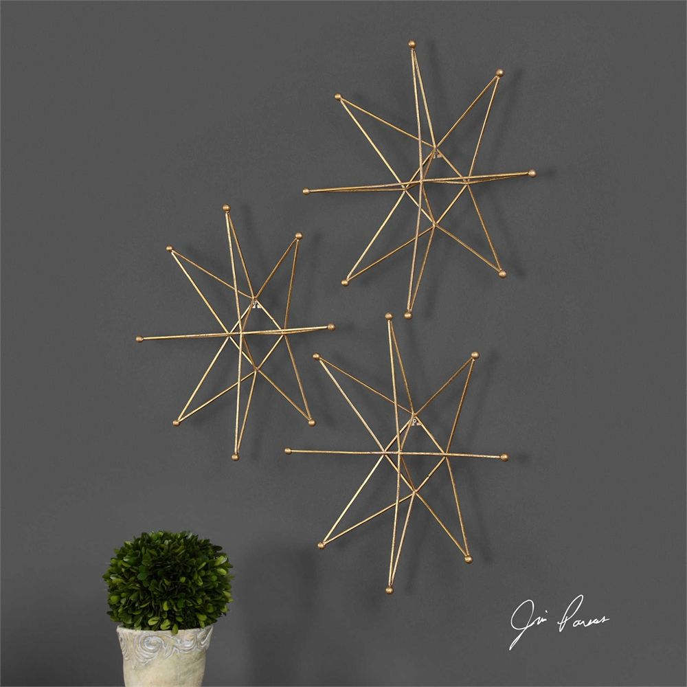Metal Wall Stars Art Decor Uttermost Gold Stars Wall Art S3  Bering Dr Pinterest  Star