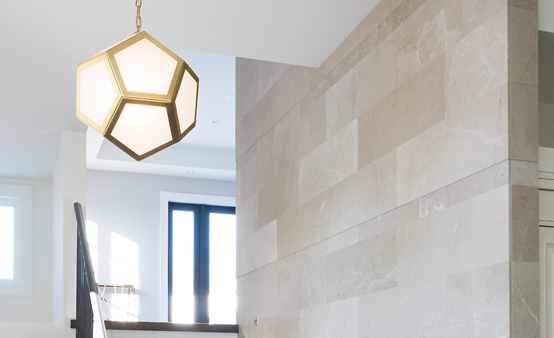 Geometric light fixtures are a popular look right now in both traditional and contemporary homes