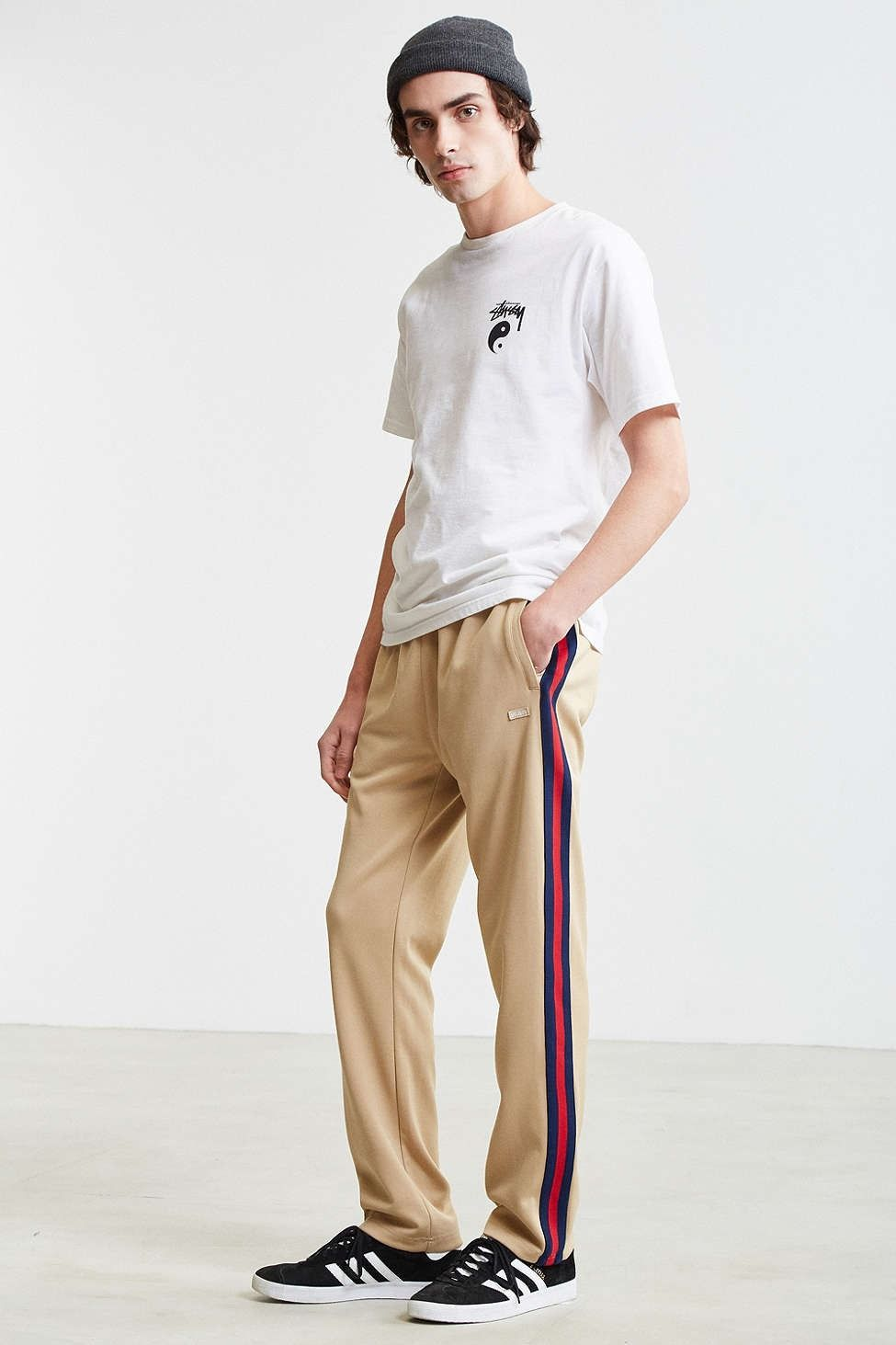 Stussy Side Stripe Track Pant Mens Jogger Pants Fashion