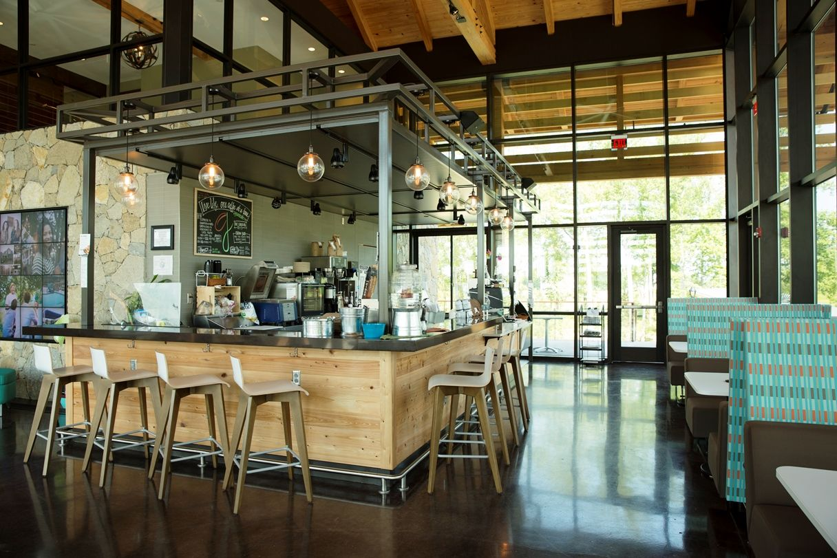 grounds cafe located at the farmhouse at wendell falls | wendell