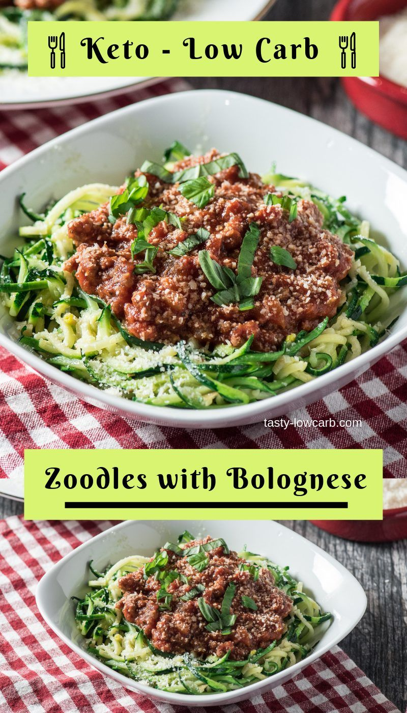 Zucchini Noodles with Bolognese (Meat Sauce) #bolognesesauce