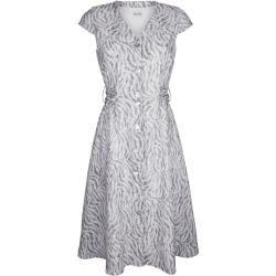 Alba Moda, Kleid im modischen Animal-Dessin allover, grau Alba Moda