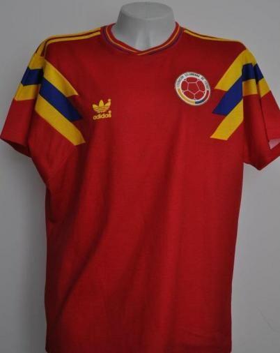 1b0c7d78d Colombia 1990 adidas Home | Camisetas de Fútbol de Selecciones ...