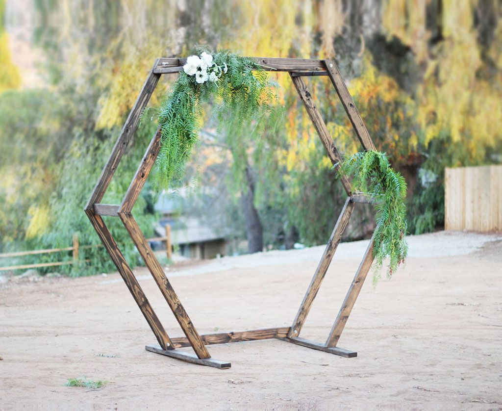 Hexagon Ceremony Arch | Hexagon wedding, Wedding arch, Wedding ...