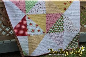 Scrappy Star Quilt.  Pattern by Jeni Baker. Fabric: Sew Cherry by Lori Holt.
