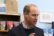Prince William, Duke of Cambridge visiting Halen Môn Anglesey Sea Salt. Here the Duke is being shown the salt making process from hand harvesting to packaging. During a visit to North Wales On May 08, 2019 in Various Cities, United Kingdom. #northwales