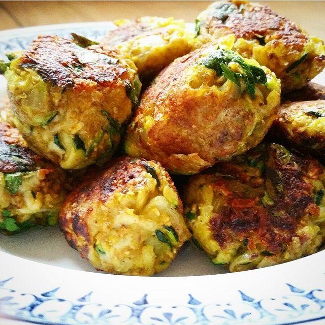 Boulettes végétariennes - Courgettes, oignons et curry Vegans