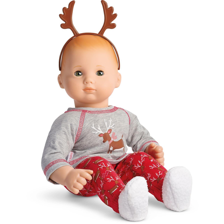 American Girl Festive Reindeer PJs for Bitty Baby Dolls