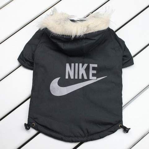 Nike dog jacket, pet winter coat,designer pet winter coat