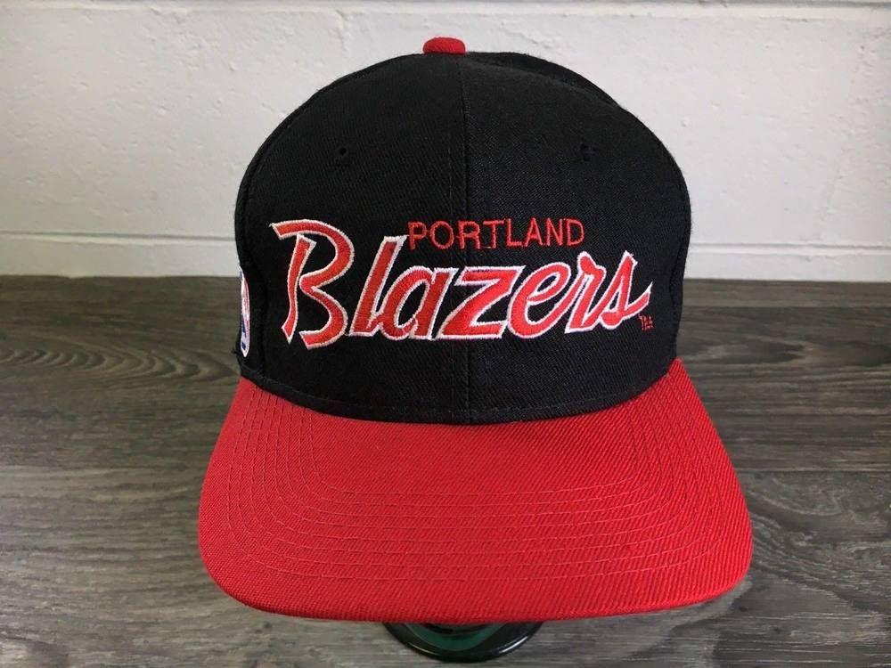 46f777cac52 Blazers Hat Snapback VTG 90s Rip City Script NBA Portland Sports Speciality   SportsSpecialties  BaseballCap