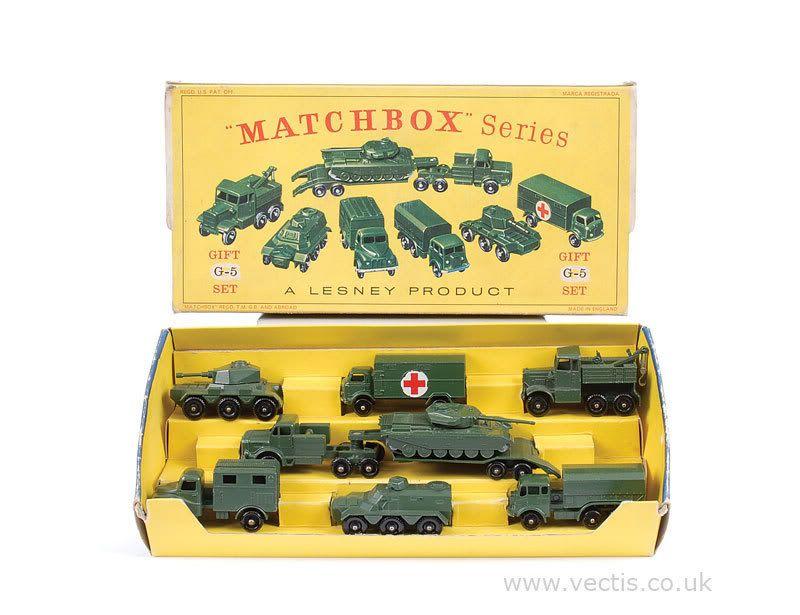Matchbox Regular Wheels G5 Military Vehicles Gift Set