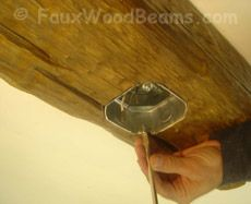 Mounting Chandeliers Or Ceiling Fan From Fake Wood Beams