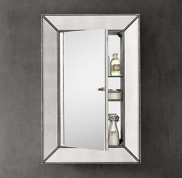 Superbe RHu0027s Beaded Venetian Medicine Cabinet:Our Medicine Cabinet Features Broad  Beveled Glass Embraced By A Mirrored Wooden Frame Accented With Silver Leaf  Cast ...