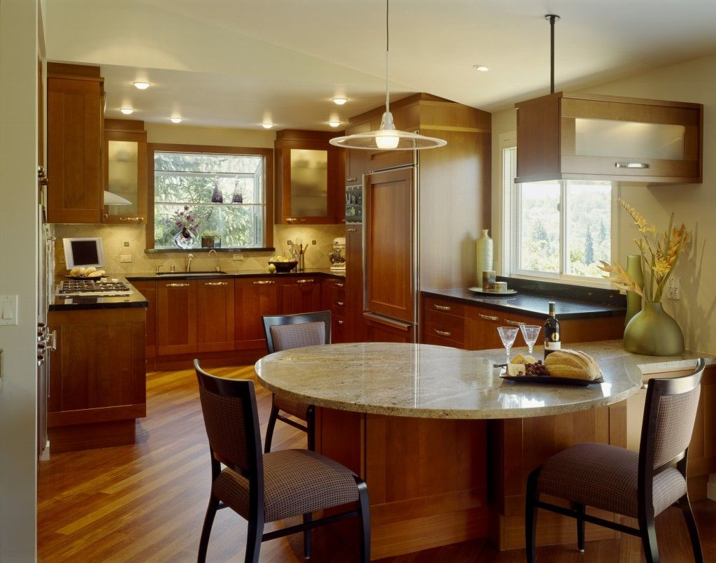 Archaicfair kitchen peninsula ideas handling a small for Table ideas for small kitchen