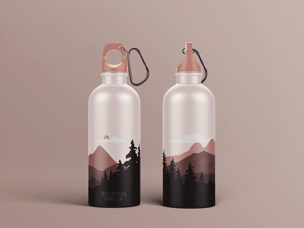 Reusable Water Bottle Mockup On Behance Bottle Mockup Bottle Water Bottle