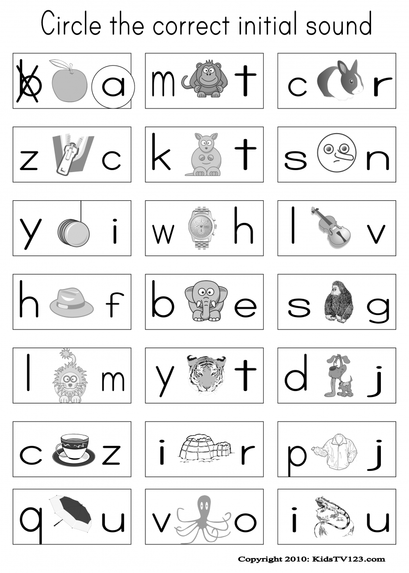 phonics worksheets for kindergarten free koogra ...