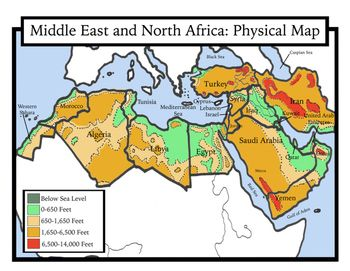 Blank Geography: Middle East and North Africa Maps: Students Color ...