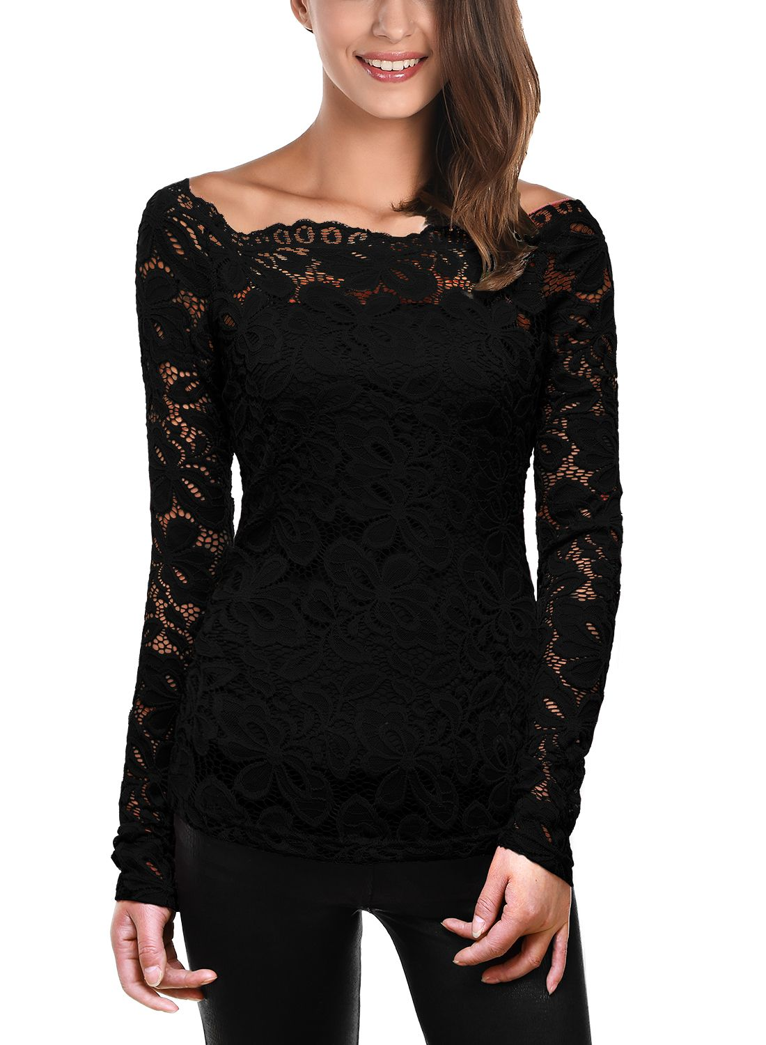 Pandapang Womens Round Neck Flare Sleeve Plus Size Beaded Loose Tops T-Shirt