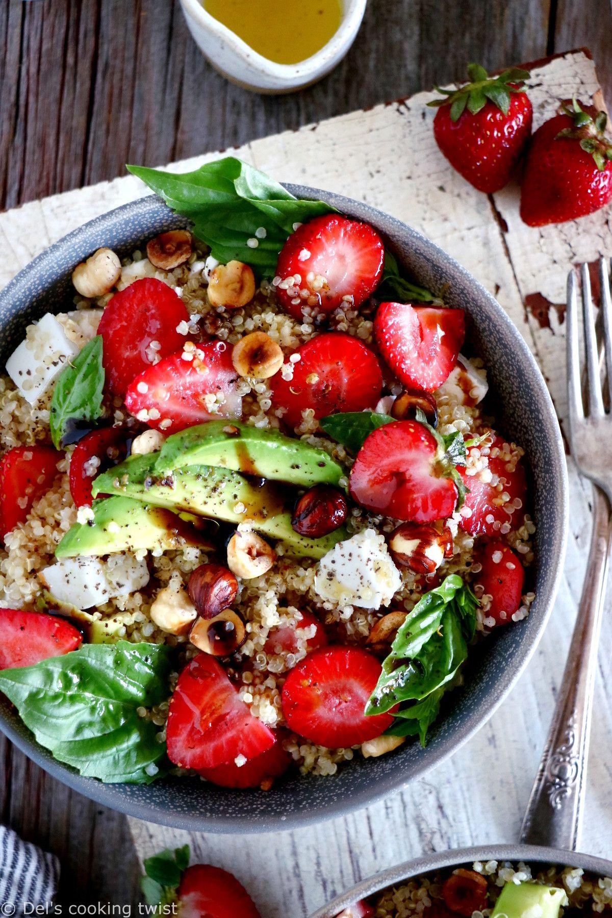 Strawberry Quinoa Salad with Feta Cheese | Recipe in 2020 ...