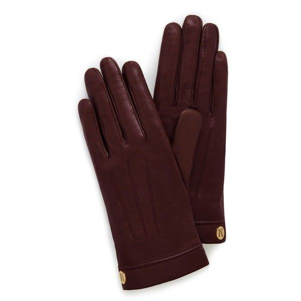 Mulberry Soft Nappa Glove ($255) ❤ liked on Polyvore featuring accessories, gloves, burgundy, nappa leather gloves and burgundy gloves
