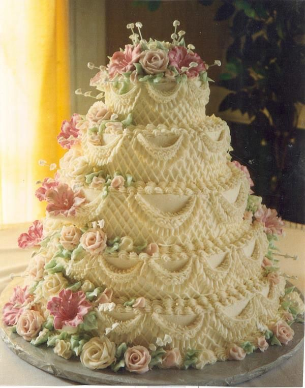 OldFashioned Buttercream Wedding Cakes Düğün Pastası Modelleri - Old Fashioned Wedding Cake