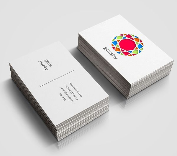 Store Gems Jewelry Business Card Design Creative Cards Visiting For Jewellery Shop