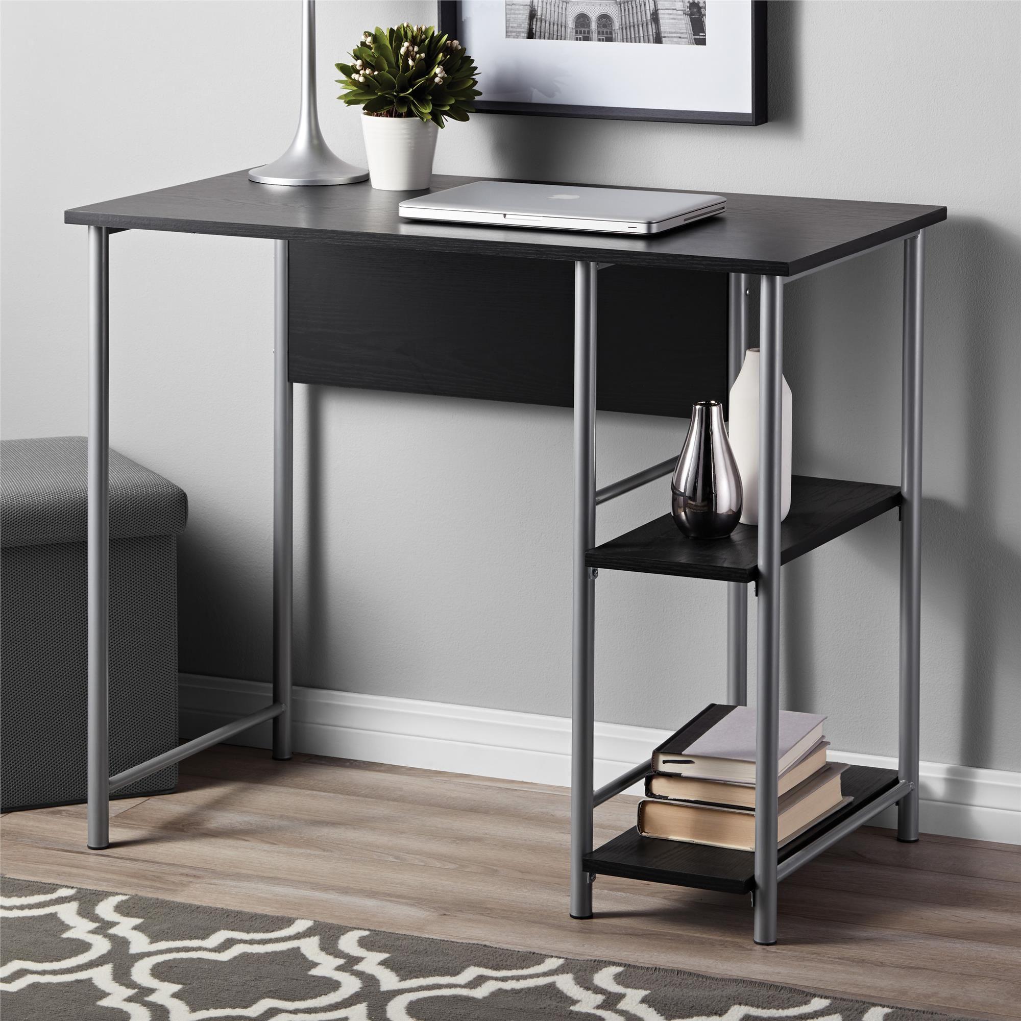 Mainstays Basic Metal Student Computer Desk Multiple Colors Available Walmart Com In 2020 Metal Office Desk Modern Metal Desk Black Desk