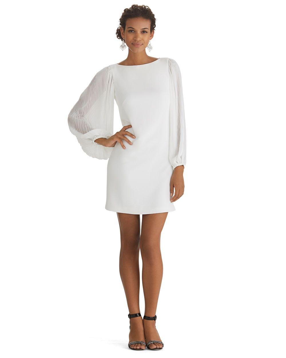 Chiffon Sleeve Shift Dress - White House | Black Market | My Stitch ...