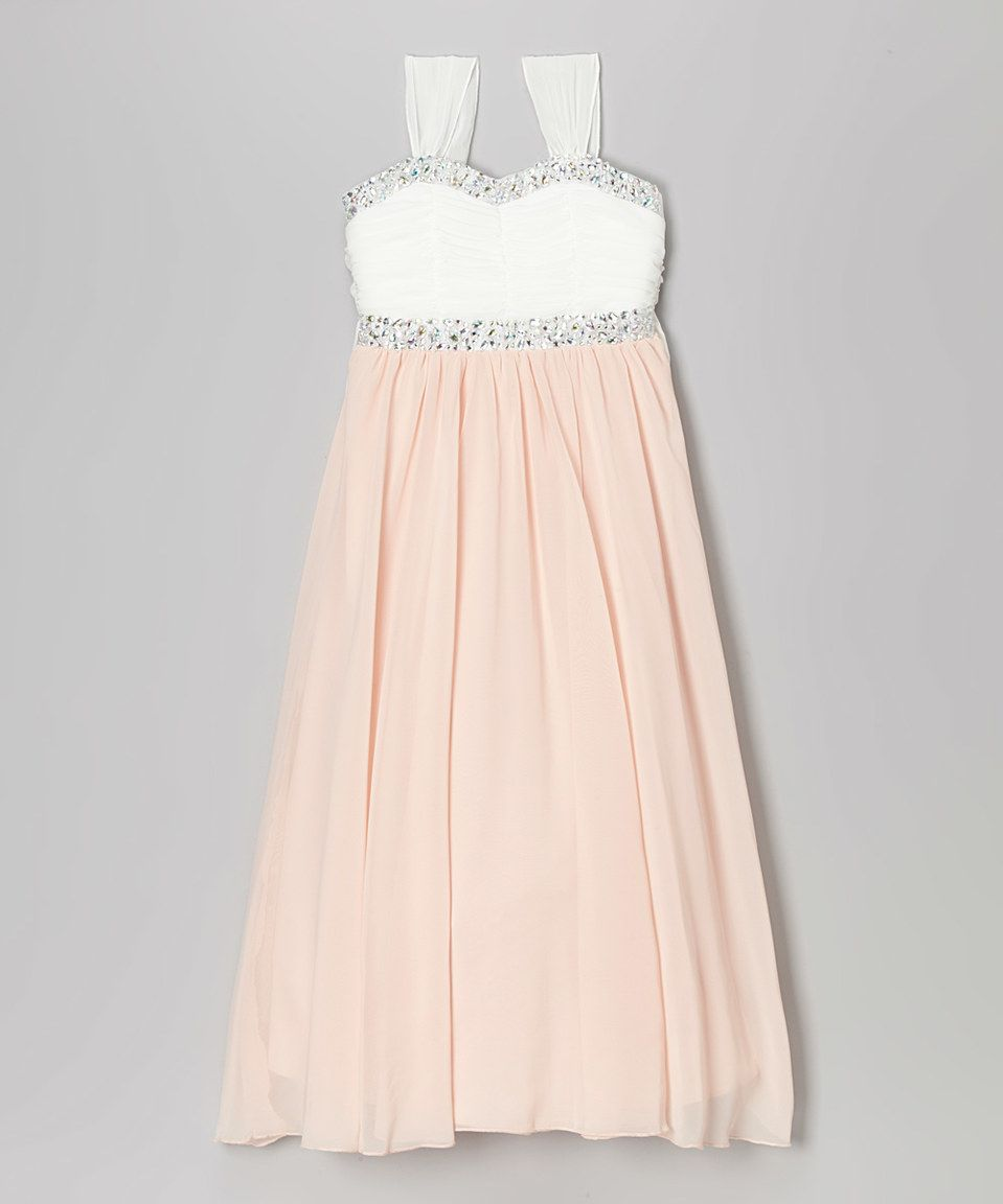 658b0df4a4c5 Speechless Light Pink & White Sequin Maxi Dress by Speechless #zulilyfinds