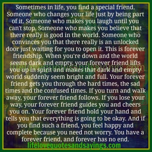 Some Special Quotes About Friendship Entrancing Sometimes In Life  You Find A Special Friend. Quotes