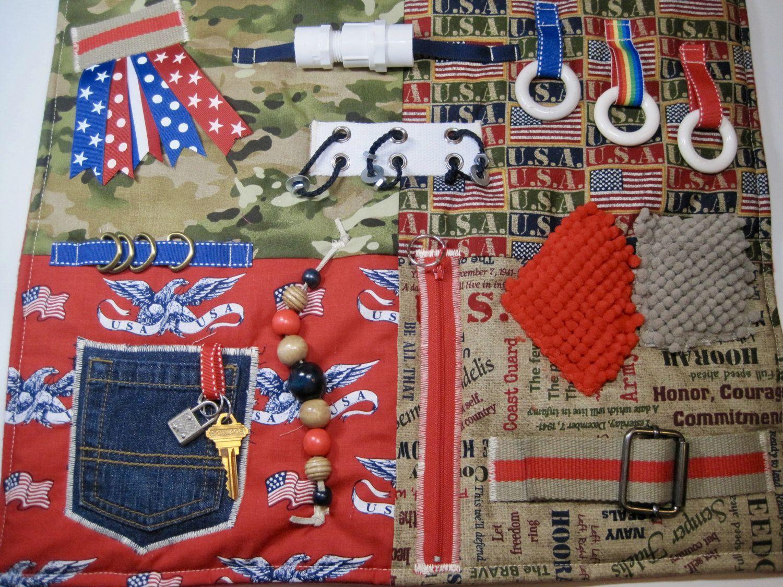 War Planes Themed Sensory Fidget Blanket for Seniors