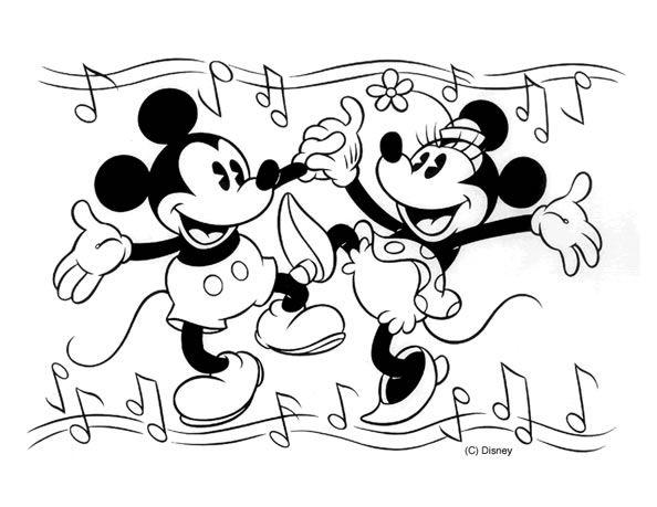 Mickey mouse y minnie para colorear