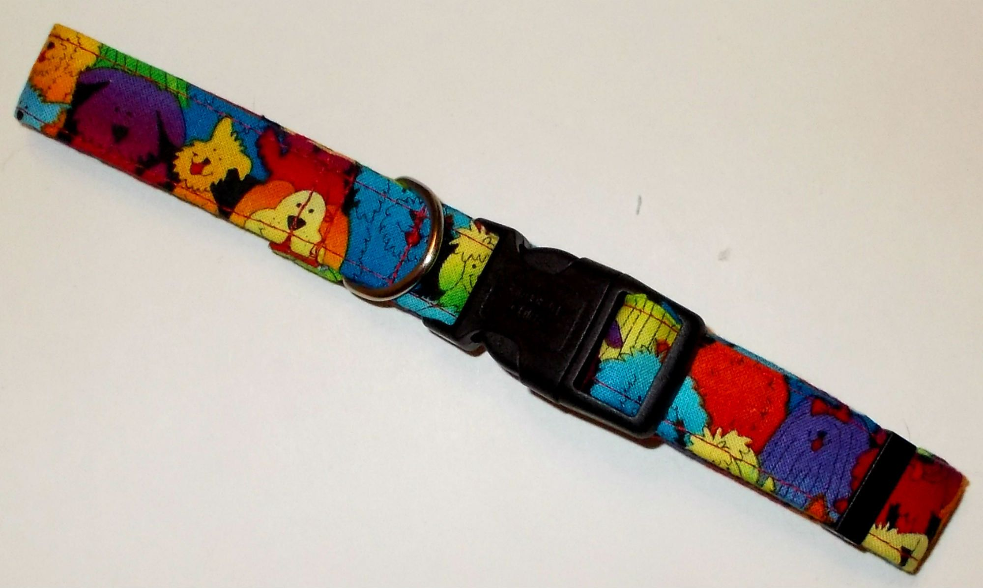 Dog collar pack of puppies print size medium by