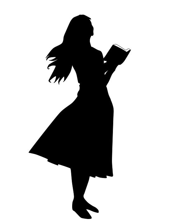 Free Image On Pixabay Woman Reading The Bible Girl Silhouette