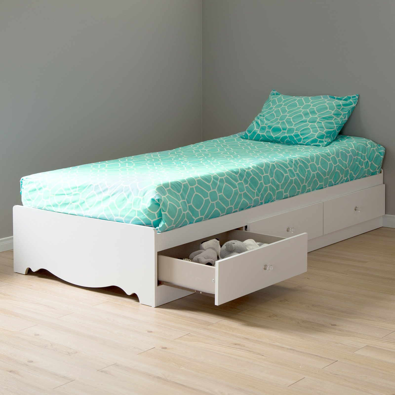 South Shore Crystal Mates Twin Platform Bed Twin Storage Bed