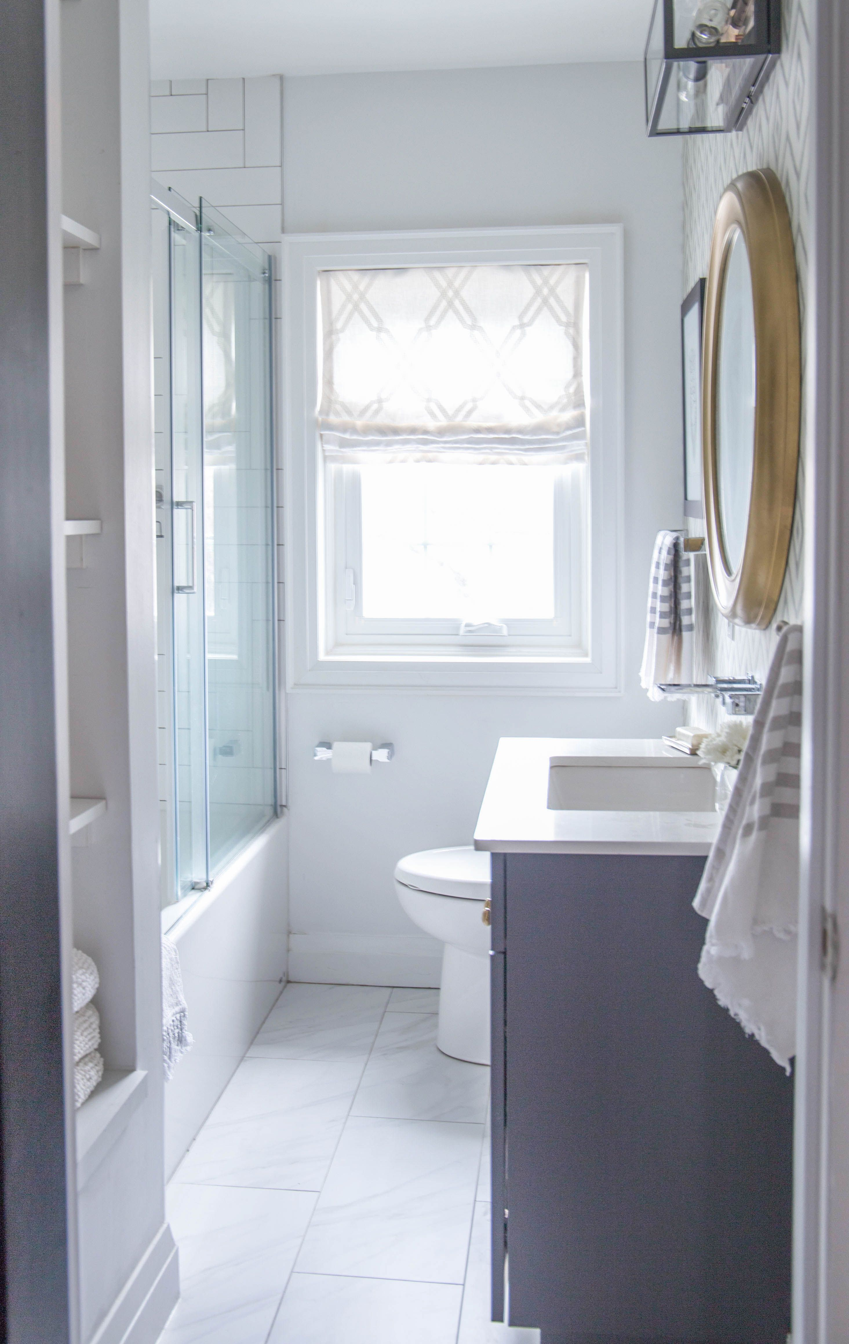 Property Brothers Bathroom Reveal By Karin Bennett Designs Bathroom Brightwhite Clean Simple So Bathrooms Remodel Bathroom Design Bathroom Remodel Master