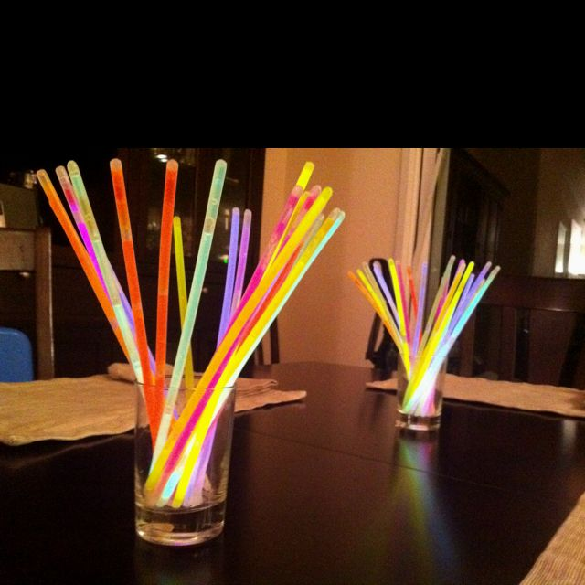 Quick, easy, & fun center pieces for our family NYE party ...