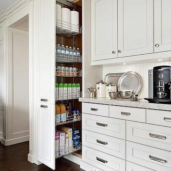 Pull Out Vertical Pantry Cabinet Transitional Kitchen Pantry Design Kitchen Wall Storage Kitchen Cabinets