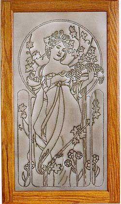 Pierced Tin Panel, Art Nouveau, Backsplash Under Glass #kitchen