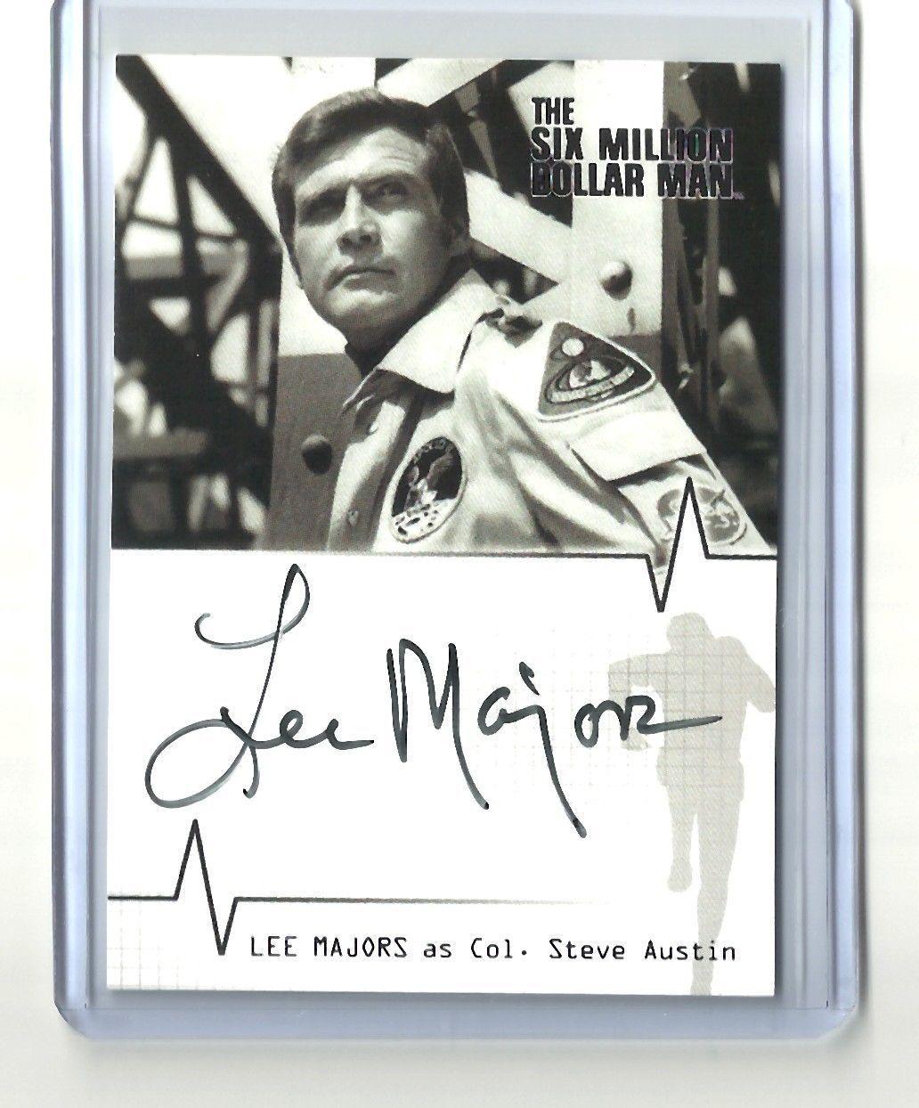 Rittenhouse Archives Lee Majors Autograph Card The Six Million Dollar Man Ebay Lee Majors Shopping Card Old Tv Shows
