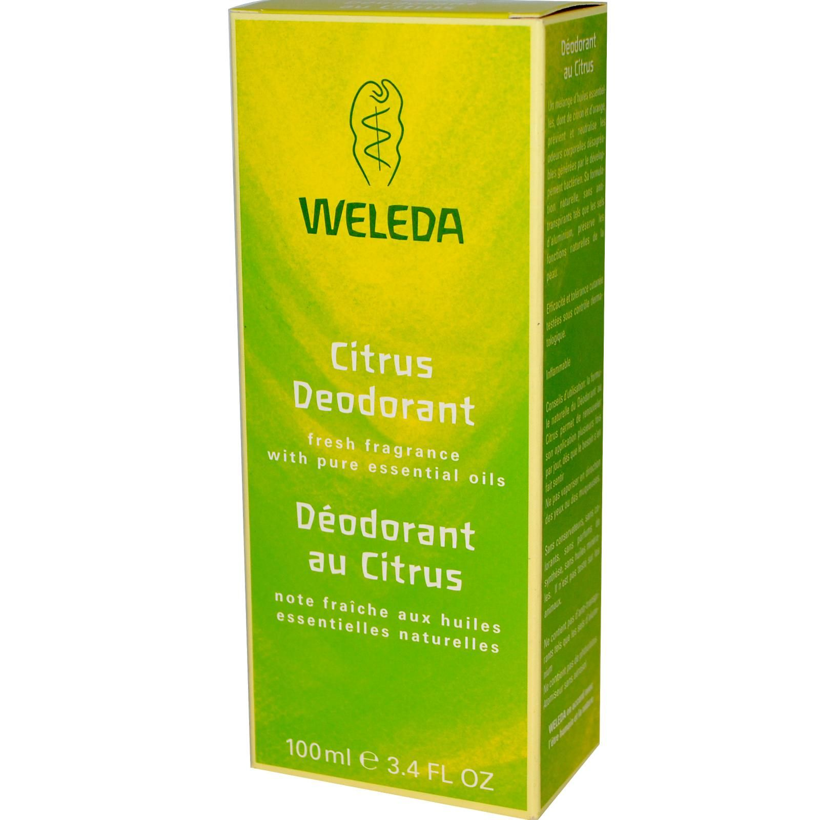 Good DEODORANT --- Free from anti-perspirants such as Aluminum salts. Free from Phthalate. Free from propellants. Free from synthetic additives including fragrance, color or preservatives. --- Weleda, Citrus Deodorant, 3.4 fl oz (100 ml)
