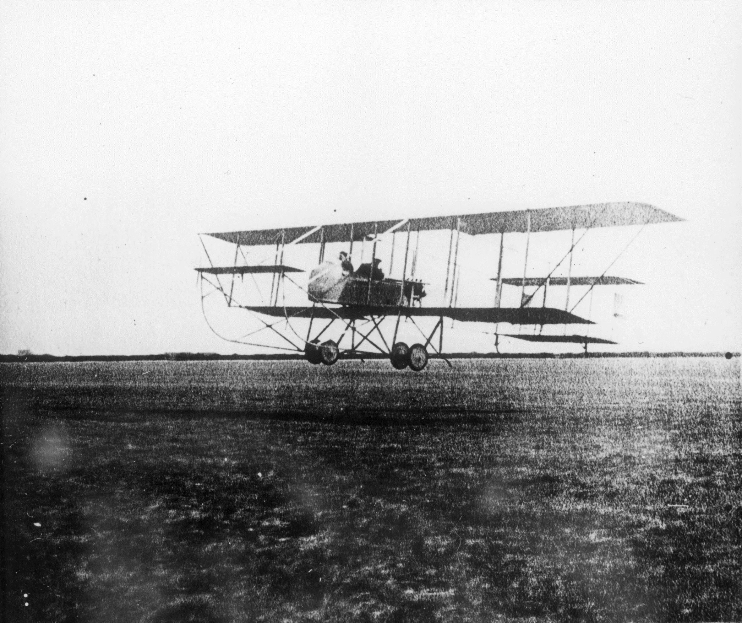Maurice Farman Longhorn taking off from an unknown