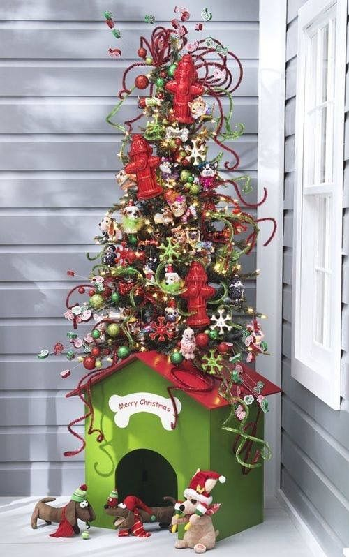 Evgenia Gl What A Jolly Little Tree Is It Novelty Stand Or Luxury Christmas Doggie House Just Needs Chimney