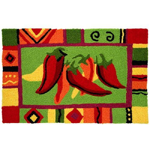 Jellybean Area Accent Rug Red Hot Chili Peppers Stuffed