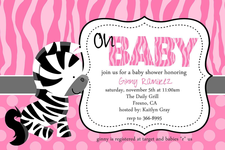 Attractive Baby Zebra Baby Shower Invitation. $12.50, Via Etsy.