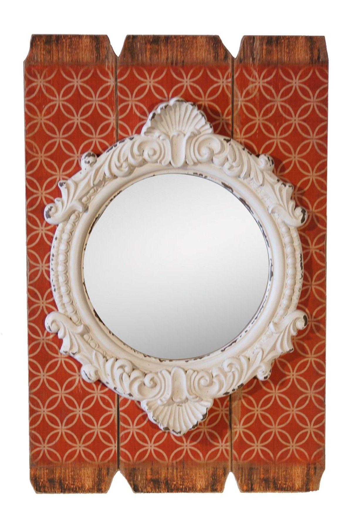 White Wood Molded Mirror on @HauteLook