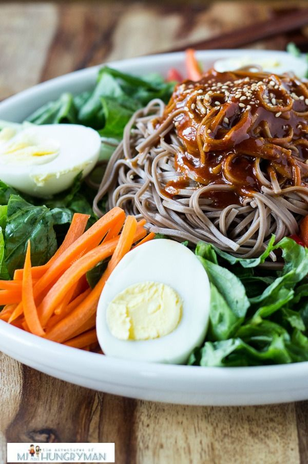 Spicy Soba Noodles | Recipe | Spicy, The egg and Noodle salads