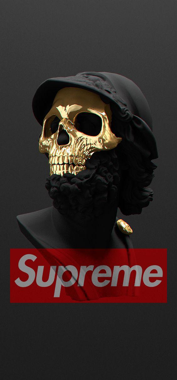 #Supreme #Wallpaper #Iphone #Cool | Skull art, Skull ...