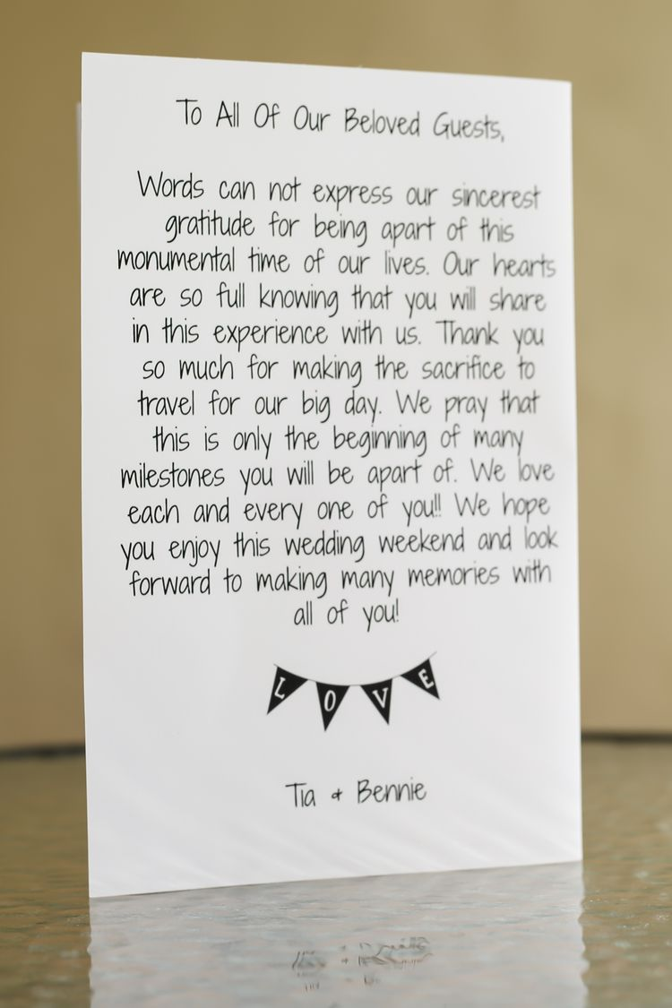 Wedding Thank You Cards For Welcome Bag Or By Paperpleasestudio