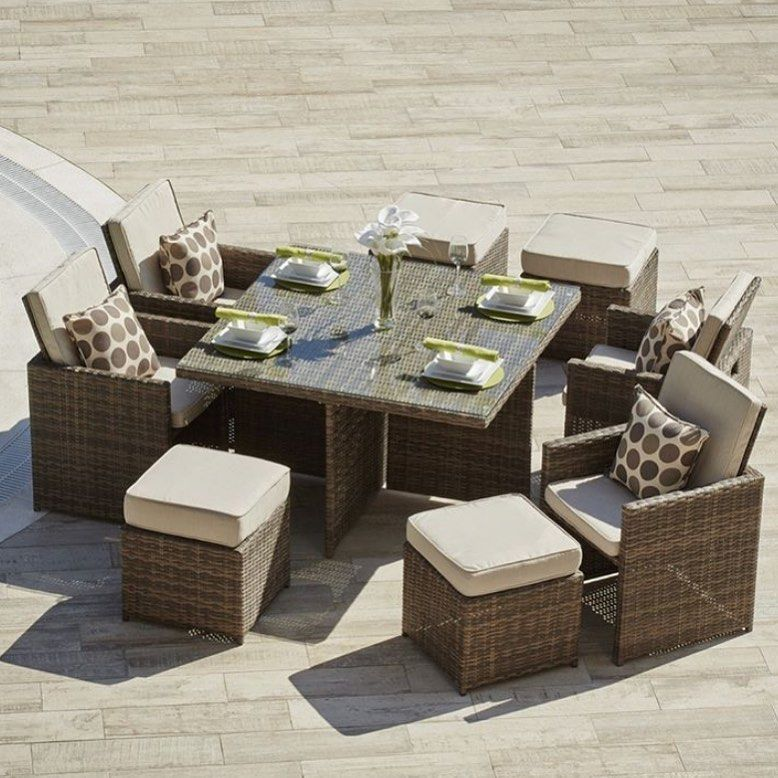 The Cubo Range Is A Must Have Piece Of Garden Furniture This Summer With An Easy Store Design Outdoor Dining Set Wicker Dining Tables Patio Furniture Deals